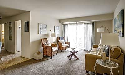 Living Room, Essex Park Apartments, 1