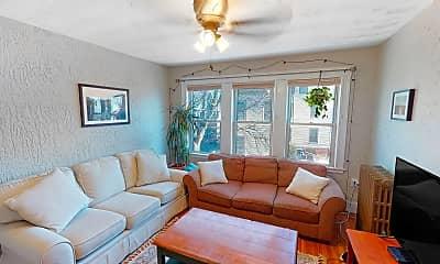 Living Room, 9 Arlington Street, Unit 2, 0