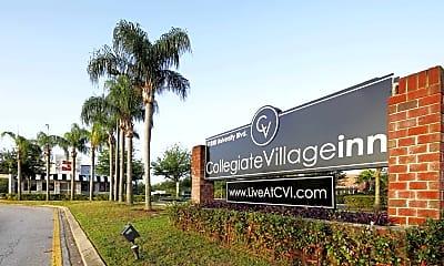 Community Signage, Collegiate Village Inn, 1