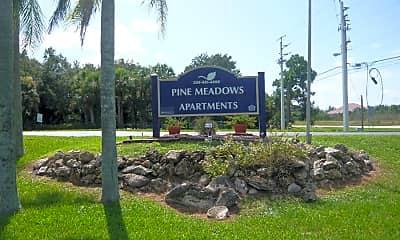 Community Signage, Pine Meadows Aptartments, 0