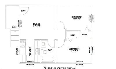 Building, 605 W Cross St, 2