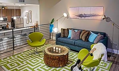 Living Room, Newberry Lofts on 6th, 1