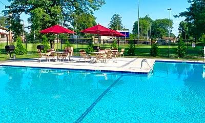 Pool, Carlton Apartments, 1