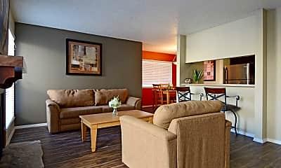 Living Room, Oakstone Apartment Homes, 1