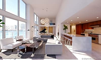 Living Room, 1500 Bay Rd N-1101, 1