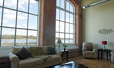 Living Room, Riverbank Lofts, 0