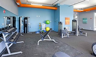 Fitness Weight Room, The Delaware, 2
