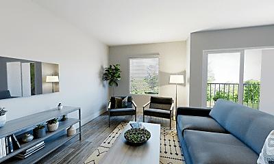 Living Room, 400 Element Apartments, 0