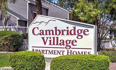 Community Signage, Cambridge Village, 2