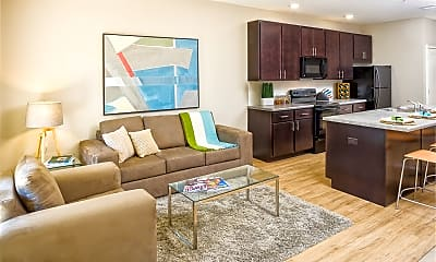 Living Room, 507 Second - PER BED LEASE, 0