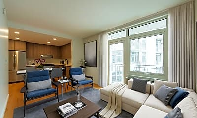 Living Room, 1277 E 14th St PH1B, 1