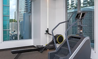 Fitness Weight Room, Muze at Met Square Apartments, 2