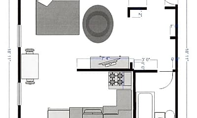 Bedroom, 942 Beech St, 2