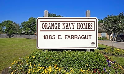 Community Signage, Orange Navy Apartments, 2