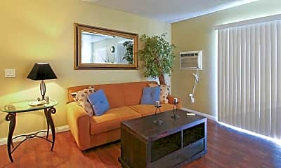 Living Room, Somerset Apartments, 1