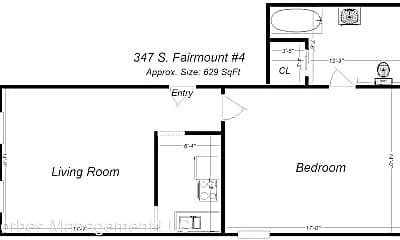 Building, 347 S Fairmount St, 1