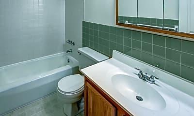 Bathroom, Hamlet Court Apartments, 2
