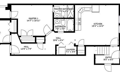 Bedroom, 1354 Queen St NE, 2