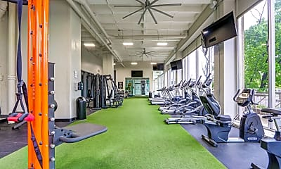 Fitness Weight Room, Jeffersonian Houze Apartments, 0