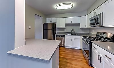 Kitchen, Twin Lake Towers Apartments, 2