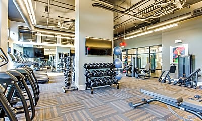 Fitness Weight Room, Assembly at Historic Heights, 1