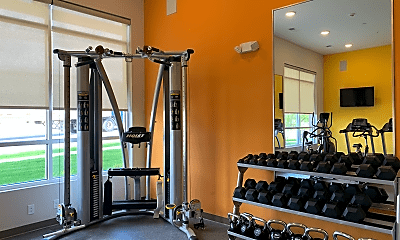 Fitness Weight Room, Riverview Apartments, 2