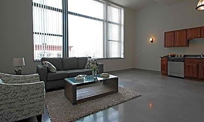 Living Room, Mercantile Lofts, 0