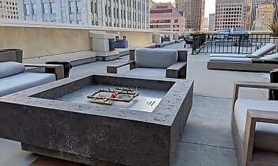 Fire pit on roof deck, 199 New Montgomery St Unit 1105, 1