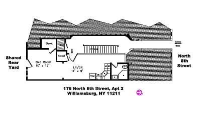 Bedroom, 176 N 8th St, 2