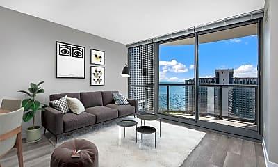 Living Room, The Shoreham At Lakeshore East, 0