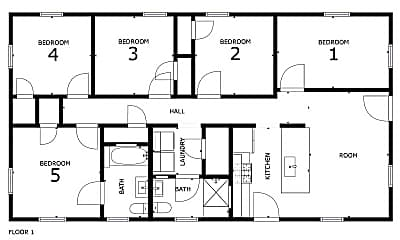 Room for Rent - **FRESH NEW HOME** Private Bath- B, 2