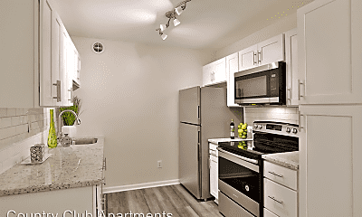 Kitchen, Country Club Apartments, 1