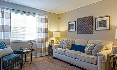 Living Room, The Oaks at Stonecrest, 1