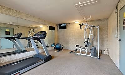 Fitness Weight Room, Brody Terrace Apartments, 2