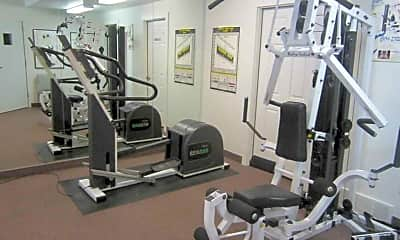 Fitness Weight Room, Churchill Place Apartments, 1