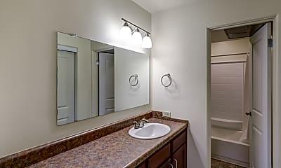 Bathroom, Powers Circle Apartments, 2