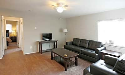 Living Room, Moran Apartments, 1