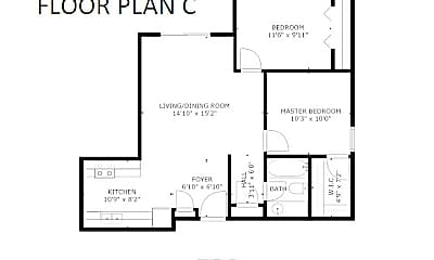 1006 Oakcrest Street - Floor Plan C.jpg, 1006 Oakcrest Street Apt 201, 2
