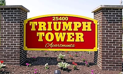 Community Signage, Triumph Tower, 2