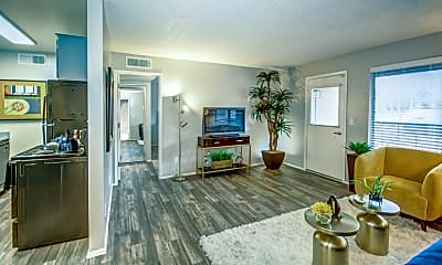 Living Room, Elevation Apartments, 1
