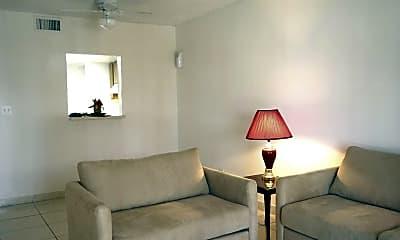 Living Room, Hawaiian Palms, 1