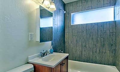 Bathroom, Melrose Apartments, 2