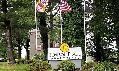 Community Signage, Towson Place Apartments, a Student Community, 0