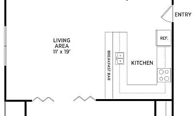 Living Room, 635 Abbot Rd, 2