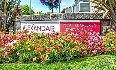 Community Signage, The Alexandar, 2