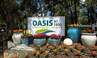 Community Signage, The Oasis at 1800, 2