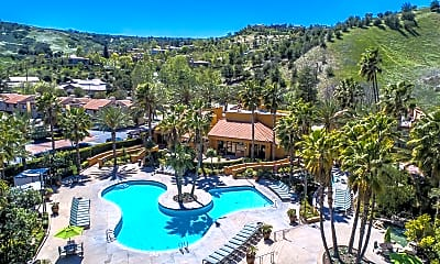 Pool, Malibu Canyon Apartments, 0