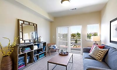 Living Room, Affinity at Olympia Senior Apartments, 1