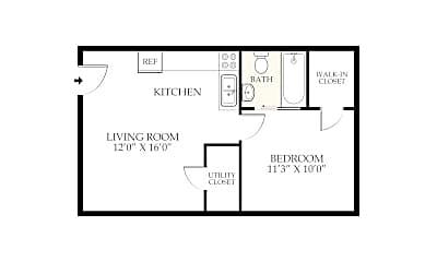 Bedroom, 2722 Wayne Ave, 2