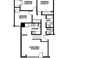 Living Room, 4608 S 20th St, 2